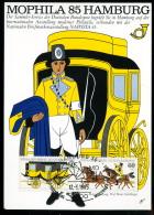 91571) BRD - Karte Michel 1255 / 1266 - SoST 2000 HAMBURG 36 Vom 12.9.1985 - MOPHILA´85 - [7] West-Duitsland