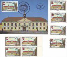 1053m: Österreich Aus 1989, Maximumkarte Und **/o Motivgleiche Briefmarken - Stockerau