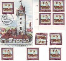 1051d: Österreich Aus 1986, Maximumkarte Und **/o Motivgleiche Briefmarken - Korneuburg