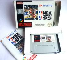 JEU SUPER NINTENDO  - BASKET NBA LIVE 95 - En Boîte Version Française - Littérature
