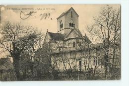 SAINT LUMIER EN CHAMPAGNE : Eglise Du XIIe Siècle. 2 Scans. Edition Lebonvallet - France
