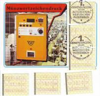 1052b: Österreich 1988, ATM- Ausgaben, Maximumkarte Plus ** - Vignettes ATM - Frama