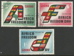 Ghana. 1960 Africa Freedom Day. Used Complete Set - Ghana (1957-...)