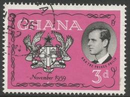 Ghana. 1959 Visit Of The Duke Of Edinburgh To Ghana. 3d Used - Ghana (1957-...)