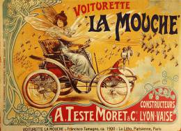 New Postcard, Postkarte, Carte Postale, La Mouche, Woman, Car, Fly - Advertising