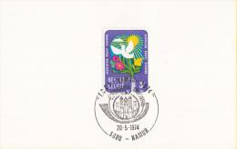 Namur - F.C.C.A. - Namur - 1974 - 20 Mei 1974 - Matasellos De Cortesía