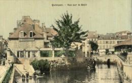 29-2626B - QUIMPER - Vue Sur Le Steir (pliure Franche Coin Inférieur Gauche) - Carte Toilée - Quimper