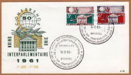 Enveloppe FDC 95 1191 1192 Conférence De L'union Parlementaire - 1961-70