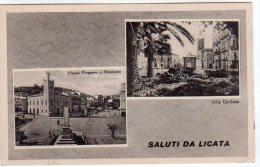 SALUTI DA LICATA  (AG) - VEDUTINE - F/P - N/V - Agrigento