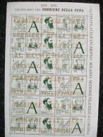 30 CHIUDI LETTERA CORRIERE DELLA SERA 1876/1976 CENTENARIO  NUOVI - Cinderellas