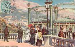Monaco  -ref B785- Monte Carlo -ascenseur - Dessin Illustrateur - - Non Classés