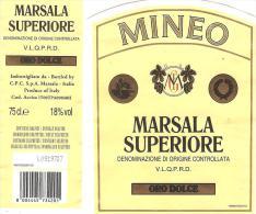 ETIQUETTE MARSALA SUPERIORE MINEO ITALIE - Etiquettes