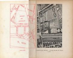 Plan Du Quartier De L´ ARSENAL  (PARIS ) En 1737 Avec Calque Transparant  Reprenant Le Plan Actuel (1912) - Vieux Papiers
