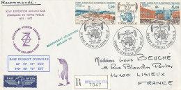 E 230/ TAAF SUR   LETTRE RECOMMANDEE-     DUMONT D'URVILLE T. ADELIE  -XXVI° EXPEDITION ANTARTIQUE   -1975 - 1977 - Terres Australes Et Antarctiques Françaises (TAAF)