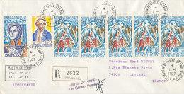 E 235 / TAAF SUR   LETTRE  RECOMMANDEE -   MARTIN DE VIVIES ST PAUL     -1977- - Covers & Documents