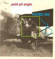 WW2 PHOTO ORIGINALE AVION FRANCAIS AIRPLANE Potez 540 54 1940 - 1939-45
