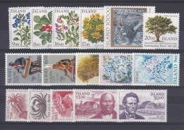 ISLANDE - ANNEE COMPLETE 1985 **  COTE = 27.25 EUROS - Collections, Lots & Séries