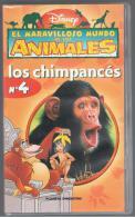 PELICULA En VHS - Original Usada - DISNEY - EL MARAVILLOSO MUNDO DE LOS ANIMALES - 4  LOS CHIMPANCES - Infantiles & Familial