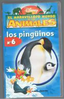PELICULA En VHS - Original Usada - DISNEY - EL MARAVILLOSO MUNDO DE LOS ANIMALES - 6 LOS PINGÜINOS - Infantiles & Familial