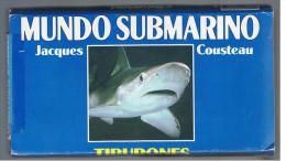 PELICULA En VHS - Original Usada - DOCUMENTAL - Jacques Cousteau TIBURONES - Documentales