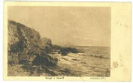 CARTOLINA - SCOGLI A QUARTO - PANORAMA COSTIERO  -  VIAGGIATA NEL 1908 - Quartu Sant'Elena