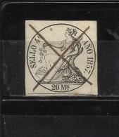 8283-SELLO ESPAÑA  FISCAL CLASICO LIBROS DE COMERCIO AÑO 1857.20 MARAVEDIES.DIOSA POMONA.ISABEL II. SPAIN REVENUE FISCAU - Fiscaux