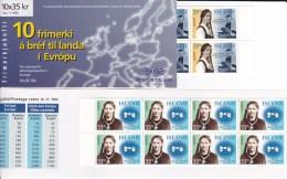 ISLANDE -  CARNETS EUROPA - YVERT C797/C798  **  COTE = 40 EUROS - Cuadernillos/libretas