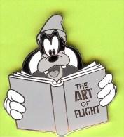 Pin BD Disney École De Pilotage Goofy / Dingo Livre ´The Art Of Flight´ (Édition Limitée 100) - 10Q19 - Disney