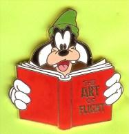 Pin BD Disney École De Pilotage Goofy / Dingo Livre ´The Art Of Flight´ (Édition Limitée 200) - 10Q20 - Disney