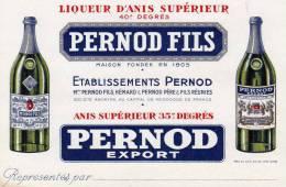 ABSINTHE - PERNOD AVIS DE PASSAGE - Advertising