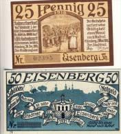 Eisenberg V. 1921   25,50 Pfennig  --  Siehe Foto !!   ( NOTGELD )   (1276) - [11] Emissions Locales