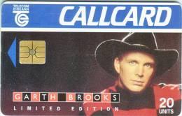 "Télécarte CALLCARD Telecom Eireann ""GARTH BROOKS""  20Units Vide TTB - Irlande"