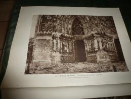 1915 PHOTO-GRAVURES Photos De Guerre De La Cathédrale De Reims Après Le Bombardement...ange Gardien...etc.... - Autres