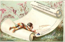 Paris, A La Pointe St Eustache, C. Remontey, Chromo Lith. Laas, Lettre D'Arlequin à Colombine - Autres