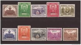 ES620-L3997TORSC.Spain Espagne CONGRESO UNION POSTAL PANAMERICANA OFICIAL1931 (Ed. 620/9**) Sin Charnela LUJO - Organizaciones