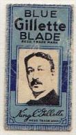RAZOR BLADE RASIERKLINGE BLUE GILLETTE BLADE KING C GILLETTE MADE IN U.S.A. Nicht Ohne Rasierer Gefüllt - Rasierklingen