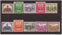 ES620-L3997TORORSC.Spain Espagne CONGRESO UNION POSTAL PANAMERICANA OFICIAL1931 (Ed. 620/9**) Sin Charnela LUJO - Organizaciones