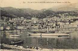 Monaco -ref B779- Monte Carlo - Vue Sur Le Port  -carte Bon Etat   - - Monte-Carlo