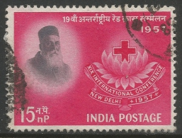 India. 1957 International Red Cross Conference, New Delhi. 15np Used - 1950-59 Republic