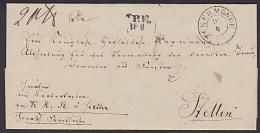 UCKERMÜNDE Ueckermünde Pommern Nach Stettin Portofreier Brief An Regierung Abteilung Des Inneren - Deutschland