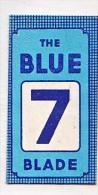 RAZOR BLADE RASIERKLINGE THE BLUE  7 BLADE  Nicht Ohne Rasierer Gefüllt - Rasierklingen