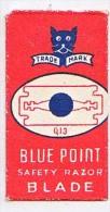RAZOR BLADE RASIERKLINGE BLUE POINT TRADE MARK SAFETY RAZOR BLADE  Q 13  Nicht Ohne Rasierer Gefüllt - Rasierklingen