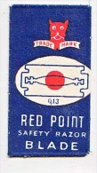 RAZOR BLADE RASIERKLINGE RED POINT TRADE MARK SAFETY RAZOR BLADE  Q 10  Nicht Ohne Rasierer Gefüllt - Rasierklingen