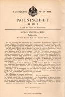 Original Patentschrift - Brüder Demuth In Wien , 1898 , Flechtmaschine , Flechterei , Flechten !!! - Maschinen