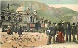 Monaco -ref B732- Monte Carlo - Les Pigeons Et Le Cafe De Paris    - Carte Bon Etat - - Monte-Carlo
