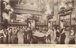 Monaco -ref B727-casino De Monte Carlo -salle De Trente Et Quarante -dessin Illustrateur   - Carte Bon Etat - - Monte-Carlo