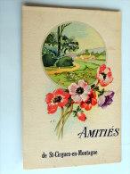 Carte Postale Ancienne : Amitiés De SAINT-CIRGUES EN MONTAGNE - France
