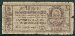 UKRAINE 1942 5 KARBOWANEZ P51 -G - Oekraïne