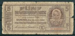 UKRAINE 1942 5 KARBOWANEZ P51 -G - Ukraine