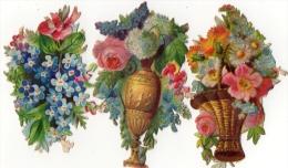 DECOUPIS FLEURS  FLOWERS   (lot De 3)  = - Flowers